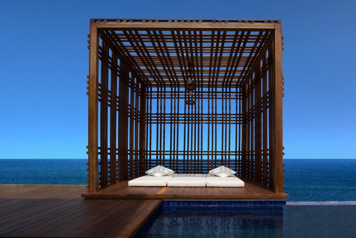 Cabana on private lap pool