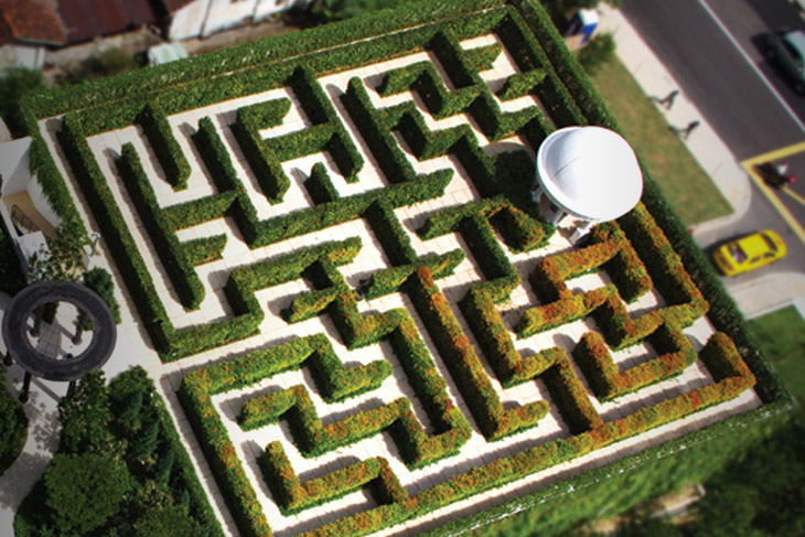 Maze garden on ground floor